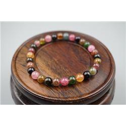 Natural Tourmaline Round Beads Bracelet