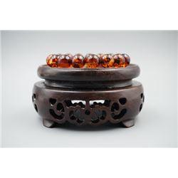 Baltic Amber Cognac Beads Bracelet.