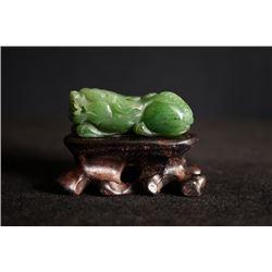 "A Auspicious Beast"" Jade Pendant."