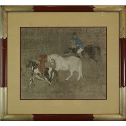 """Tribute Horses II"" with Mark and Frame."
