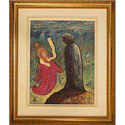 """An Oil Painting """"Mystery Ocean""""."""