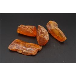 4 Pieces of Unpolished Amber.