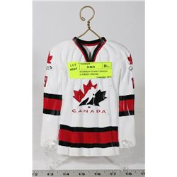 STEVE YZERMAN TEAM CANADA REPLICA JERSEY FIGURE.