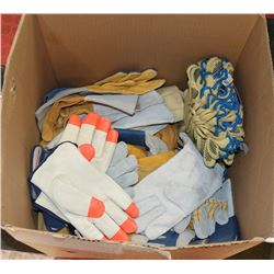 BOX OF APPROX 150 PAIRS OF ASSORTED WORK GLOVES