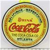 REPLICA VINTAGE COCA-COLA ROUND METAL SIGN
