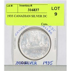 1935 CANADIAN SILVER DOLLAR