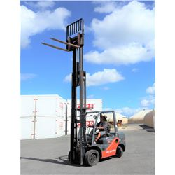2011 Toyota Diesel Forklift 6k Capacity 1674 Hours Model 8FDU30 (Runs,Drives,Lifts,See Video)