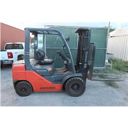 2011 Toyota Diesel Forklift 6k Capacity 3314 Hours Model 8FDU30 (Runs,Drives DOES NOT LIFT)