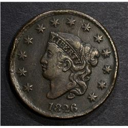 1826 LARGE CENT, VF