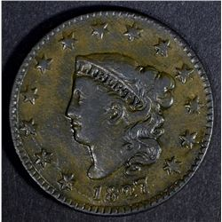 1827 LARGE CENT, XF