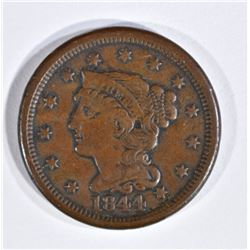 1844/81 LARGE CENT VF