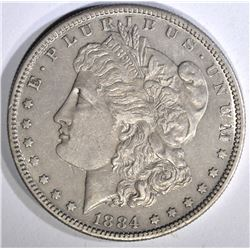 1884-S MORGAN DOLLAR, AU+