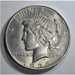 1935-S PEACE DOLLAR  CH BU