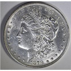 1878 7/8 TF MORGAN DOLLAR STRONG CH BU