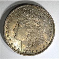 1882 O/S MORGAN DOLLAR CH BU+