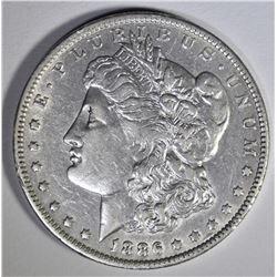 1886-O MORGAN DOLLAR  XF/AU