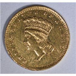 1860-S $1.00 GOLD  AU+