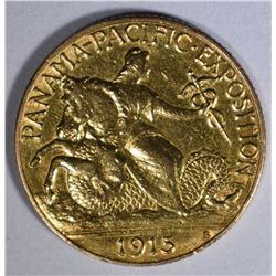 1915-S PAN PACIFIC $2.50 GOLD COMMEM  AU