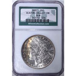 1887 MORGAN DOLLAR BINION COLLECTION