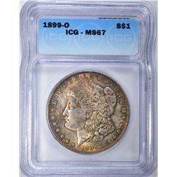 1899-O MORGAN DOLLAR ICG MS67