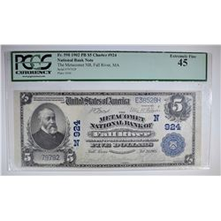 1902 $5 NATIONAL CURRENCY  PCGS 45