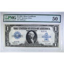 1923 $1.00 SILVER CERTIFICATE PMG 50