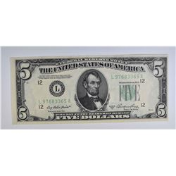 1950 A $5 FEDERAL RESERVE NOTE