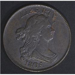 1805 HALF CENT AU/BU