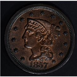 1857 LD LARGE CENT BU