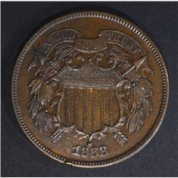 1868 PROOF 2 CENT CH PR