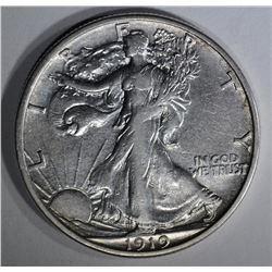 1919-S WALKING LIBERTY HALF XF/AU