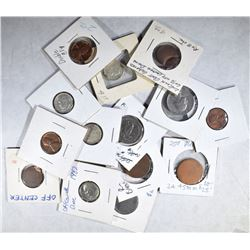 MISC. LOT OF 52 COINS: