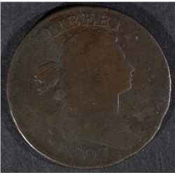 1803 DRAPED BUST LARGE CENT, VG