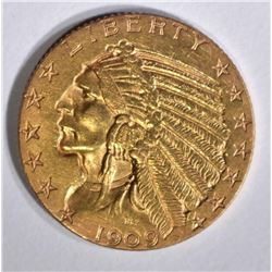 1909-S $5 GOLD INDIAN HEAD  BU