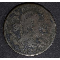 1798 DRAPED BUST LARGE CENT,S-163 R4 VG/F porosity