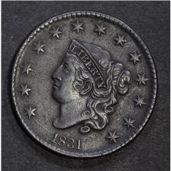 1831 LARGE CENT, XF
