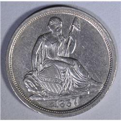 1837 SEATED DIME  AU/BU