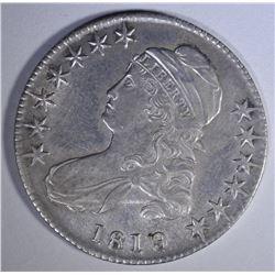 1819/8 CAPPED BUST HALF DOLLAR  AU