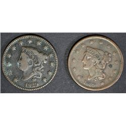 1829 FINE & 1839 VF porosity rev LARGE CENTS