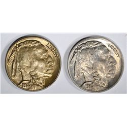 1935-D&S CH BU BUFFALO NICKELS