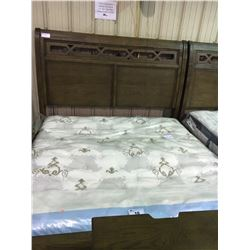 ASHLEY SIGNATURE WALNUT INLAY KING SLEIGH BED , INCLUDES HEADBOARD, FOOTBOARD, AND SIDE RAILS
