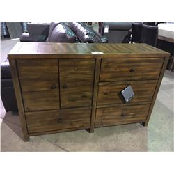 ASHLEY SIGNATURE 2 DOOR 4 DRAWER WALNUT SIDEBOARD