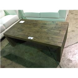 "ASHLEY SIGNATURE RECLAIMED WOOD 52"" X 28"" COCKTAIL AND END TABLE SET"