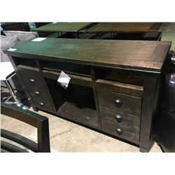 ASHLEY SIGNATURE 4 SECTION 2 DOOR DISTRESSED ENTERTAINMENT CONSOLE