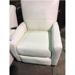 AMA WHITE LEATHER MODERN  RECLINING CHAIR