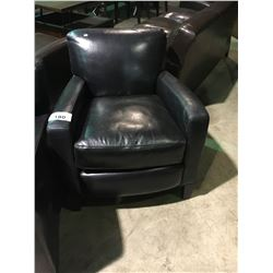 BLACK LEATHER ARM CHAIR