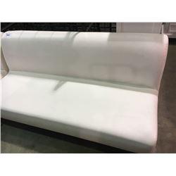 WHITE MODERN 3 SEATER LEATHER SOFA