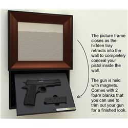 HANDGUN CONCEALMENT IN-WALL PICTURE FRAME/ 9 MM HANDGUN