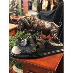 """""""Mbogo"""" Bronze Sculpture"""