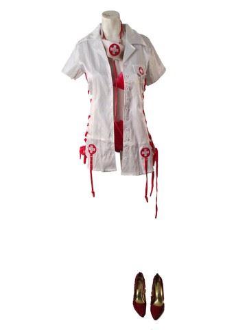 91943d357002e Image 1 : Hell Fest (2018) Naughty Nurse Screen Worn Movie Costumes ...